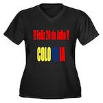 20 Julio Colombian day Women's Plus Size V-Neck Da