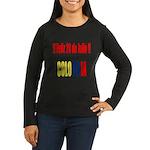 20 Julio Colombian day Women's Long Sleeve Dark T-