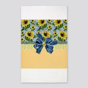 Country Sunflowers 3'x5' Area Rug