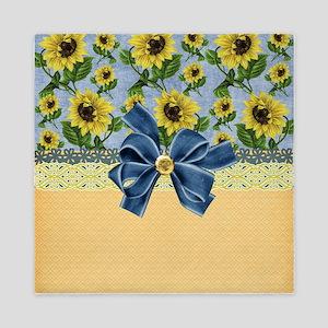 Country Sunflowers Queen Duvet