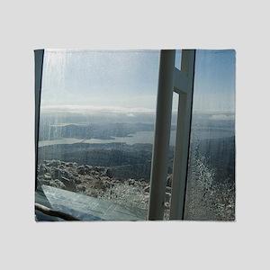 frosty windows Throw Blanket
