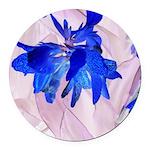 Fairy flowers Round Car Magnet
