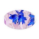 Fairy flowers Oval Car Magnet