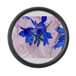 Fairy flowers Large Wall Clock