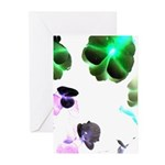 Blooming space Greeting Cards