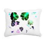 Blooming space Rectangular Canvas Pillow
