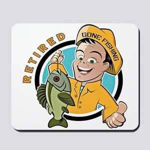 Retired - Gone Fishing Mousepad