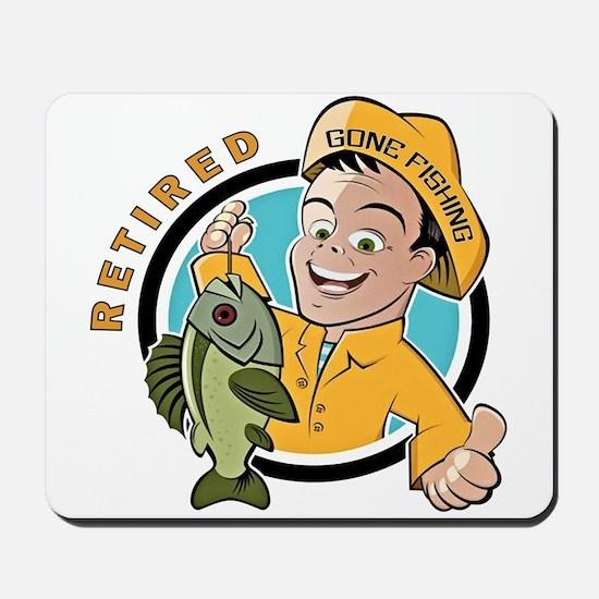 Retired - Gone Fishing Mousepad