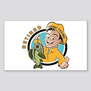 Retired - Gone Fishing Sticker (Rectangle)