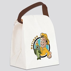 Retired - Gone Fishing Canvas Lunch Bag