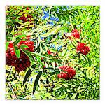 Rowan berries Square Car Magnet 3