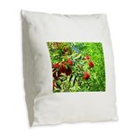 Rowan berries Burlap Throw Pillow