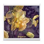 Moonlight Daffodils Tile Coaster