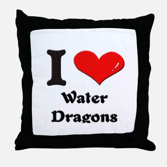 I love water dragons  Throw Pillow