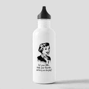 Eat Gmo, Drink Fluorid Stainless Water Bottle 1.0L