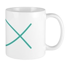 Turquoise Christian Faith Fish Mug