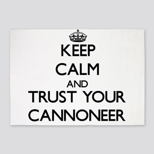 Keep Calm and Trust Your Cannoneer 5'x7'Area Rug