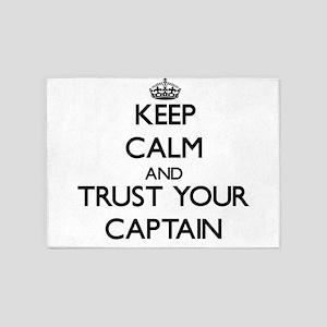 Keep Calm and Trust Your Captain 5'x7'Area Rug