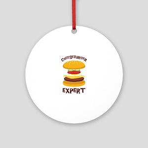 CHEESEBURGER EXPERT Ornament (Round)