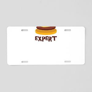 CHEESEBURGER EXPERT Aluminum License Plate
