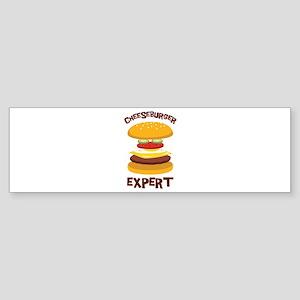 CHEESEBURGER EXPERT Bumper Sticker