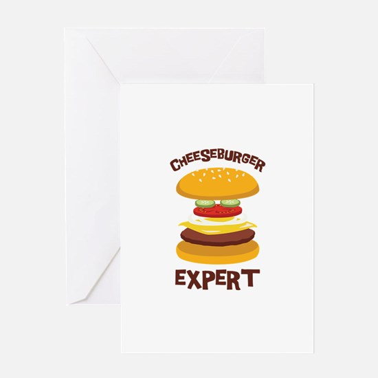 CHEESEBURGER EXPERT Greeting Cards