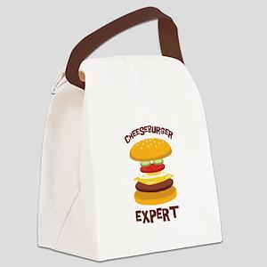 CHEESEBURGER EXPERT Canvas Lunch Bag