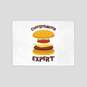 CHEESEBURGER EXPERT 5'x7'Area Rug