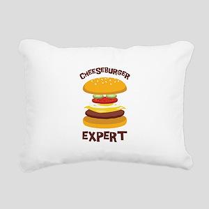 CHEESEBURGER EXPERT Rectangular Canvas Pillow