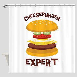 CHEESEBURGER EXPERT Shower Curtain