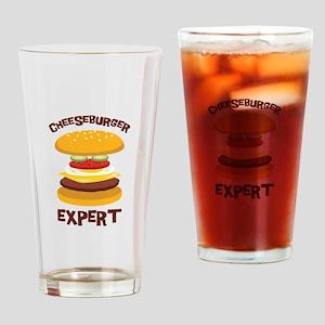 CHEESEBURGER EXPERT Drinking Glass