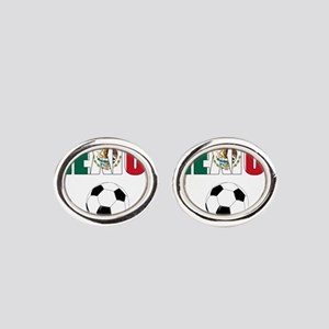 Mexico soccer Oval Cufflinks