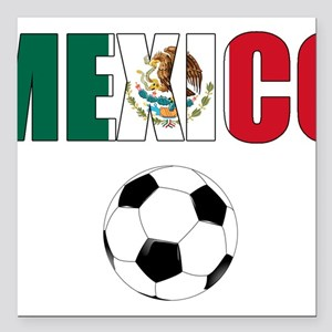 "Mexico soccer Square Car Magnet 3"" x 3"""