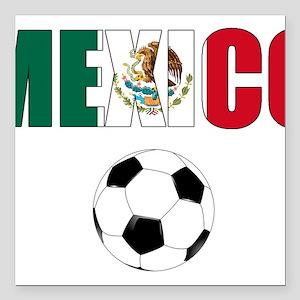 "Mexico soccer Square Car Magnet 3"" x 3"""