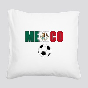 Mexico soccer Square Canvas Pillow