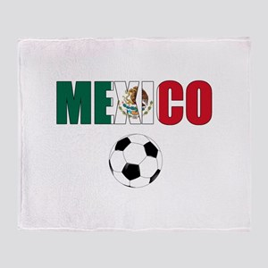Mexico soccer Throw Blanket