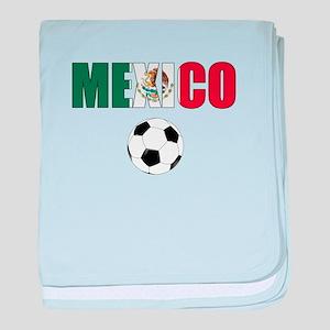 Mexico soccer baby blanket