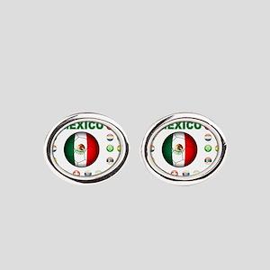 Mexico soccer Oval Cufflinks