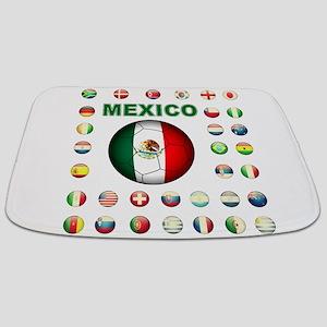 Mexico soccer Bathmat