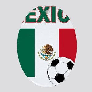 Mexico soccer Ornament (Oval)