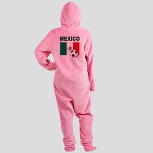 Mexico soccer Footed Pajamas