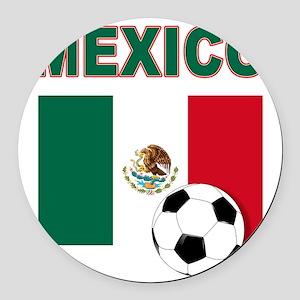 Mexico soccer Round Car Magnet