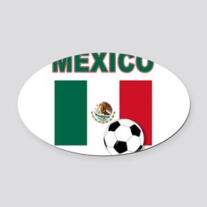 Mexico soccer Oval Car Magnet