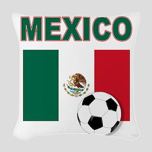 Mexico soccer Woven Throw Pillow