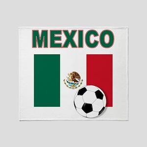 Mexico soccer Throw Blanket