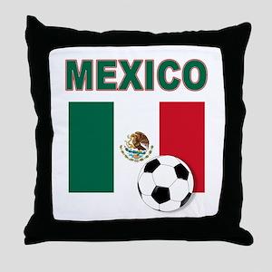 Mexico soccer Throw Pillow