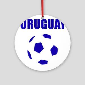 Uruguay soccer futbol Ornament (Round)