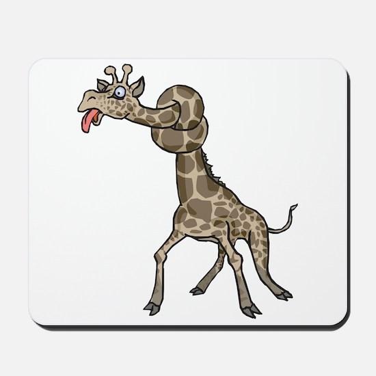 Goofy Giraffe in Knots Mousepad