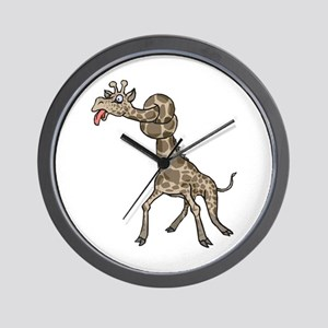 Goofy Giraffe in Knots Wall Clock