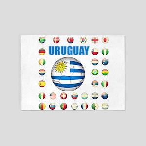 Uruguay soccer futbol 5'x7'Area Rug